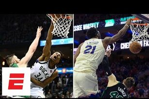 Better Aron Baynes Poster Dunk: Giannis or Embiid?