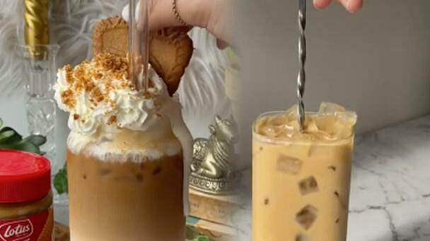 Everyone Is Frothing Over This Biscoff Iced Latte Or As We're Calling It...
