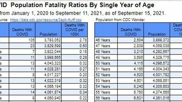Amazing Graphic Shows Just How Few Children Die with Covid