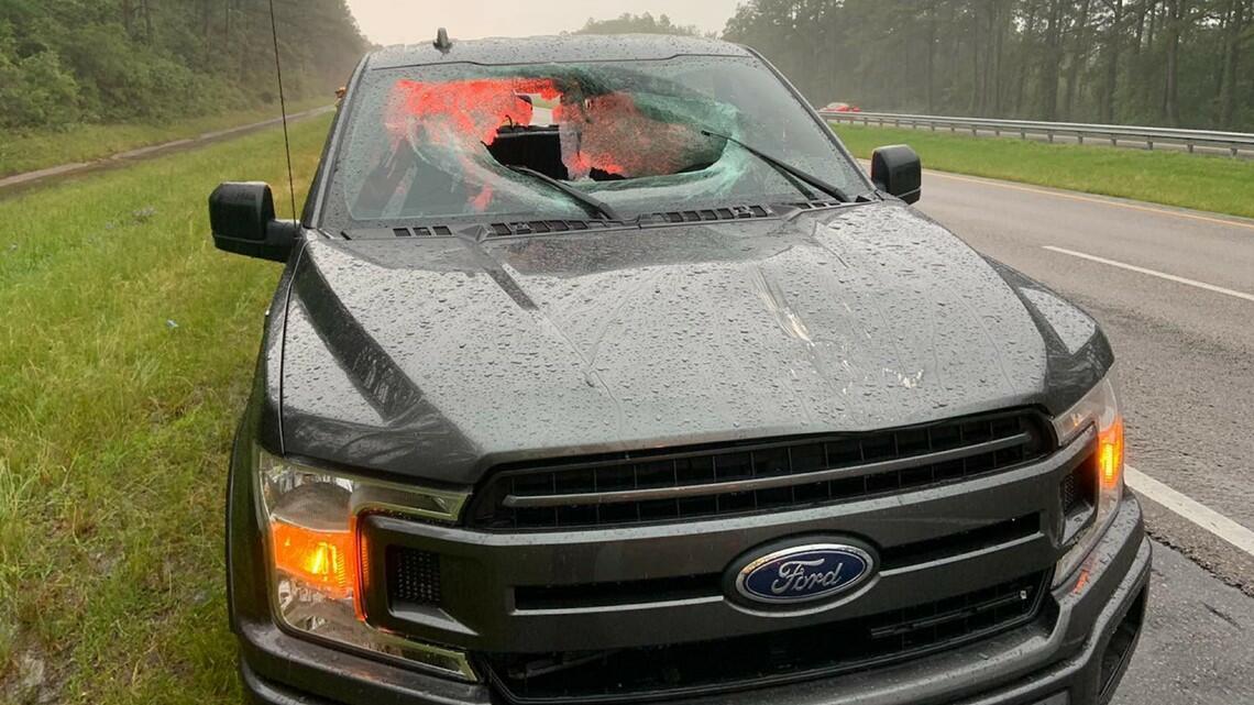 A Lightning Strike Sent A Huge Chunk Of Florida's I-10 Into A Pickup Truck