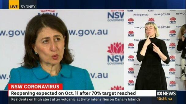 Premier Gladys Berejiklian Lays Our Roadmap To NSW Recovery