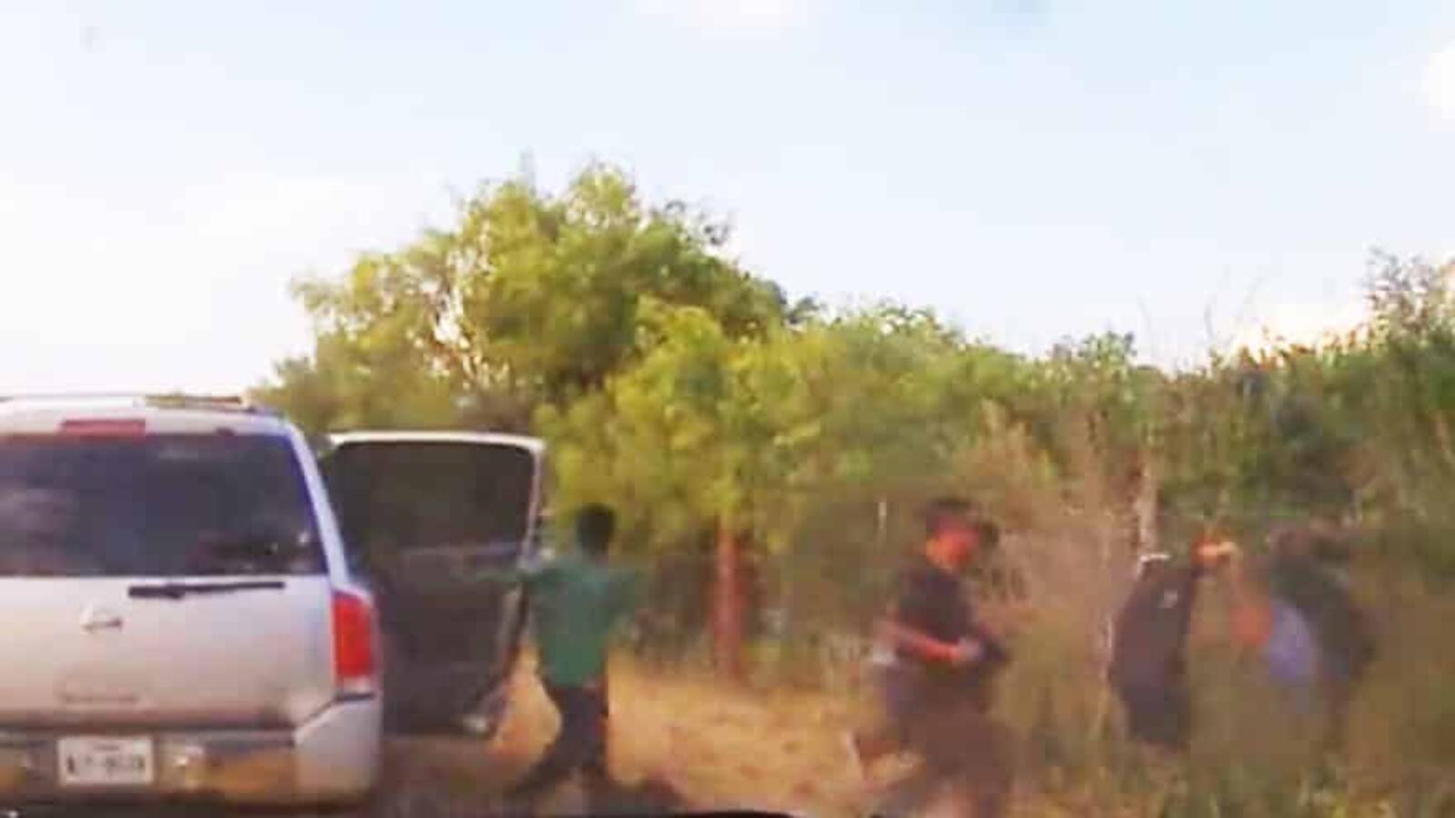 WATCH: Wild Dash Cam Footage Shows Migrants Fleeing Vehicle After Being ...