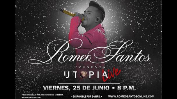 Vive la Utopía en concierto con Romeo Santos