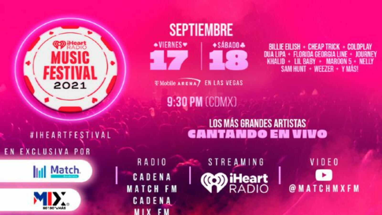 iHeartRadio Music Festival 2021: Transmisión en video